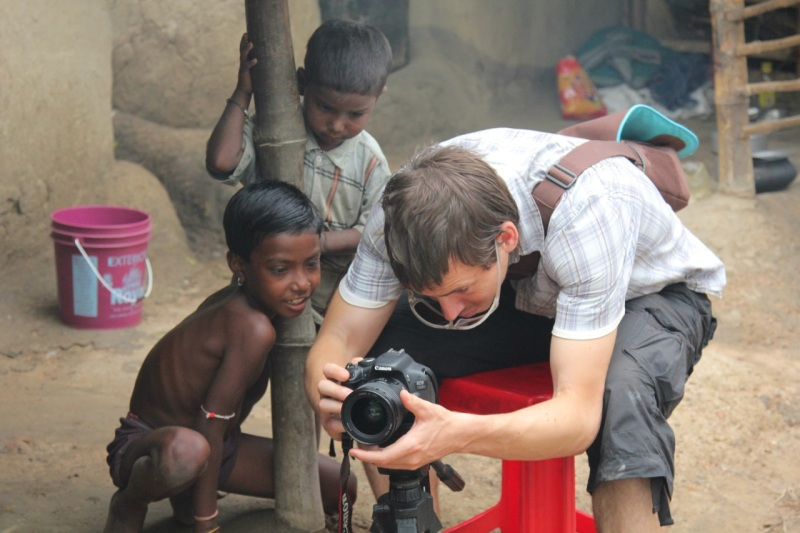 Chris Smith working in Gaskara, India.