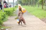 Dancing Monkey in Jakarta, Indonesia